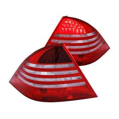 2000-2005 Mercedes Benz S Class W220 LED Taillights Red/Clear