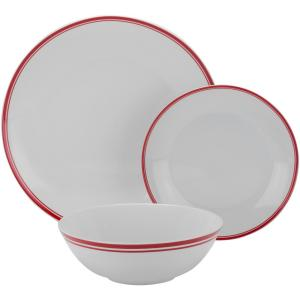 10 Strawberry Street 12-Piece Red Coupe Dinnerware Set by 10 Strawberry Street