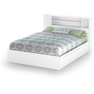 Vito 2-Drawer Pure White Queen-Size Storage Bed
