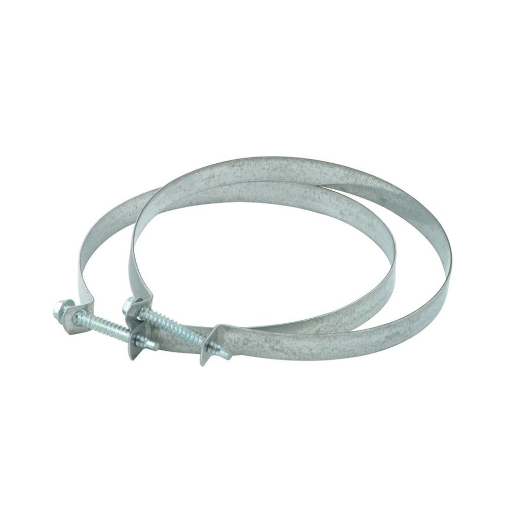 Whirlpool Dryer Vent Clamps (2-Pack) The 2-pack Dryer Clamps will help you securely connect your venting from the dryer to the wall. Just need Phillips screwdriver for installation. Packaging includes two 4 in. steel clamps.