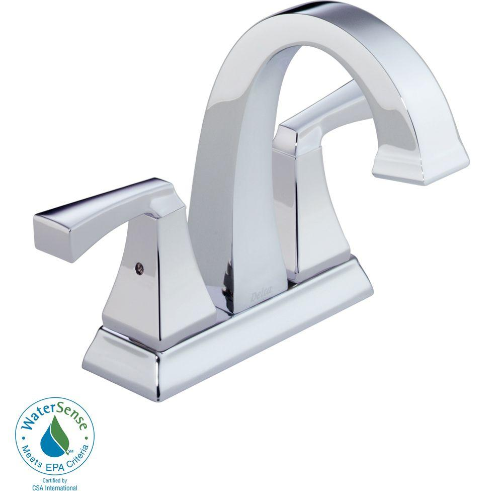 Delta Dryden 4 in. 2-Handle High-Arc Bathroom Faucet in Chrome-DISCONTINUED