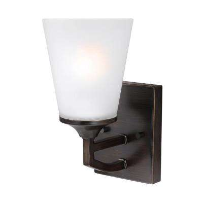 Hanford 1-Light Burnt Sienna Wall Sconce