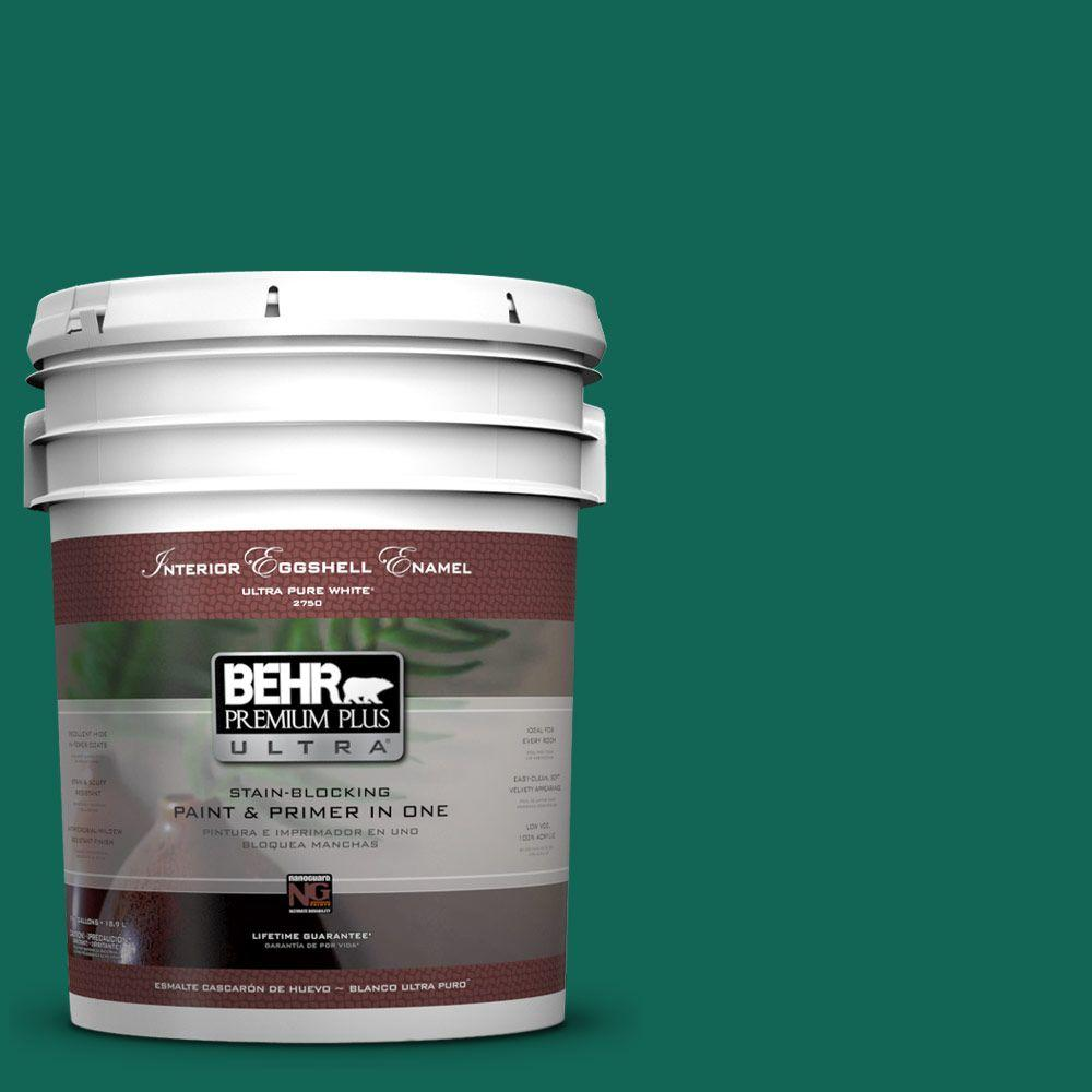 BEHR Premium Plus Ultra 5-gal. #S-H-480 Forest Rain Eggshell Enamel Interior Paint
