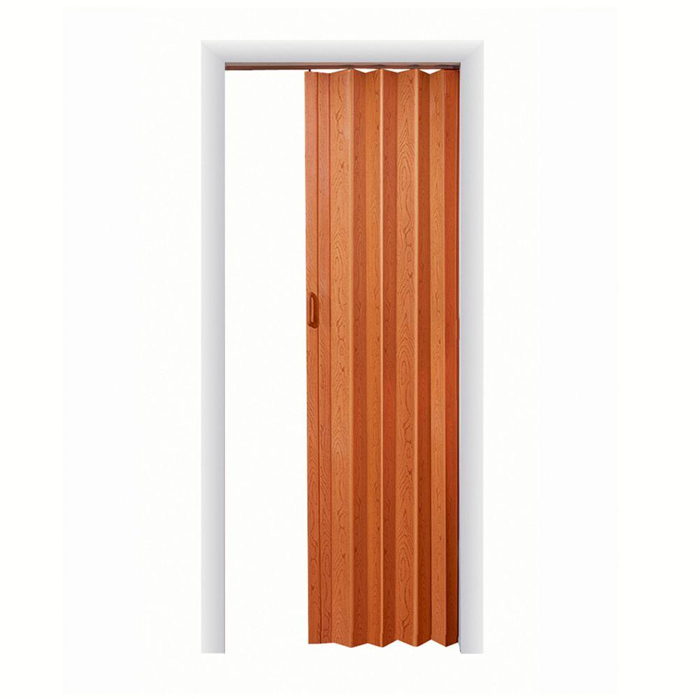 Spectrum express one 36 in x 96 in vinyl fruitwood for Accordion glass doors home depot