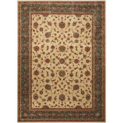 Persian Arts Ivory 5 ft. x 7 ft. Area Rug