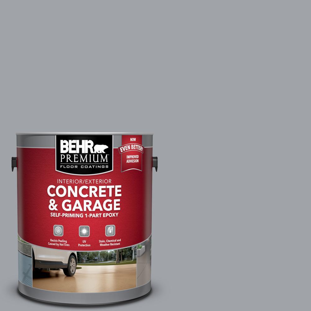 1 gal. #N530-4 Power Gray Self-Priming 1-Part Epoxy Satin Interior/Exterior Concrete and Garage Floor Paint