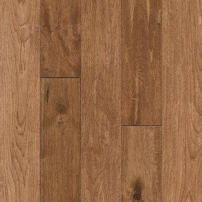 Take Home Sample - Hickory Sculpted Rich Doeskin Solid Hardwood Flooring - 5 in. x 7 in.