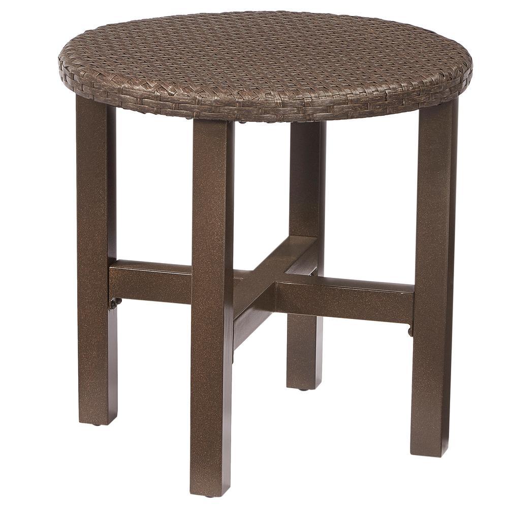 Hampton Bay Torquay Wicker Outdoor Side Table Product Photo