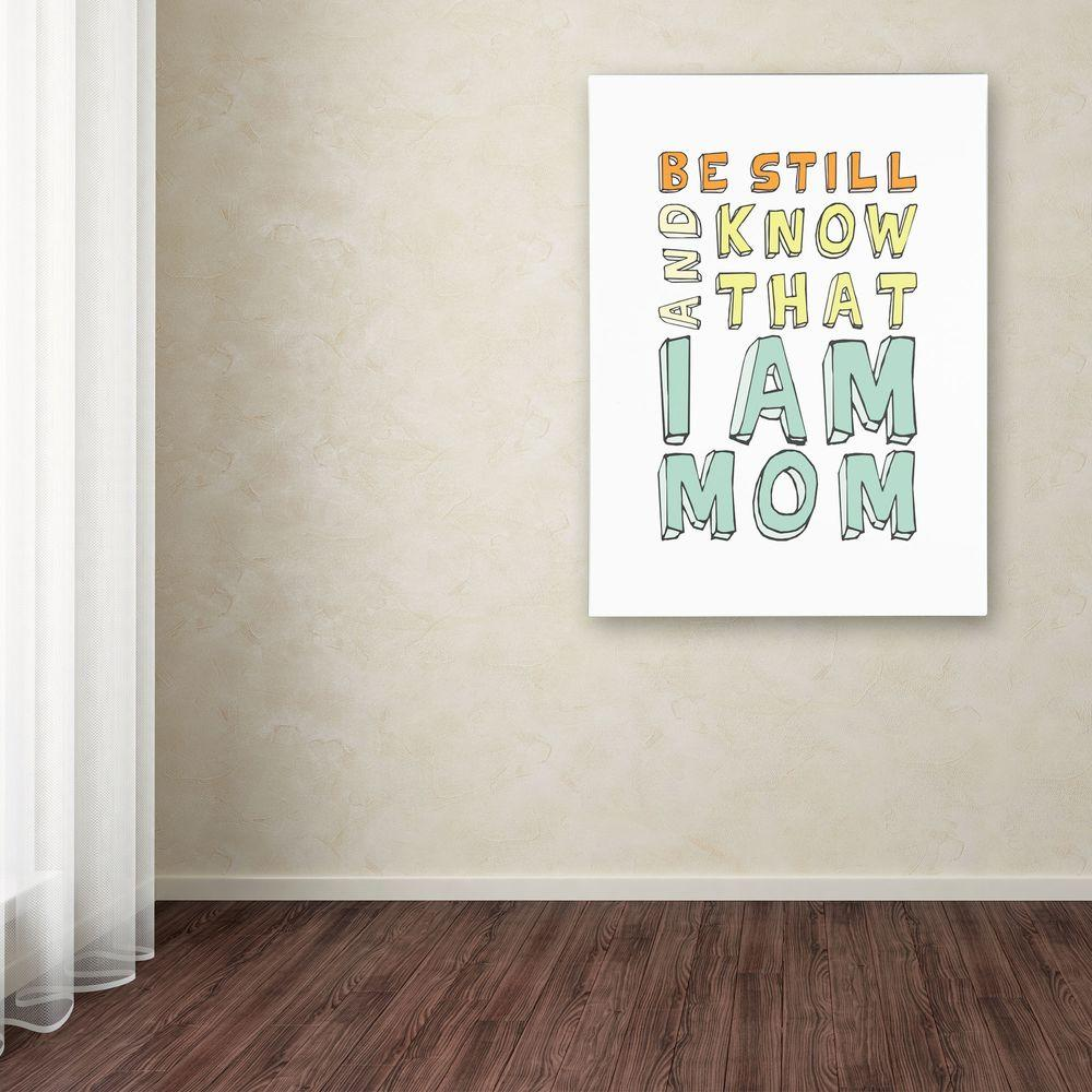 null 19 in. x 14 in. I Am Mom Canvas Art