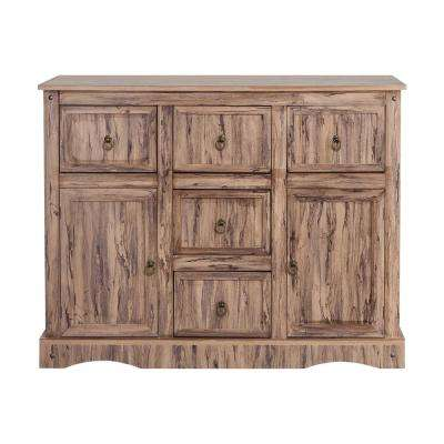 Wren Maple Veneer Simplicity Storage Cabinet with 2-Doors 5-Drawers
