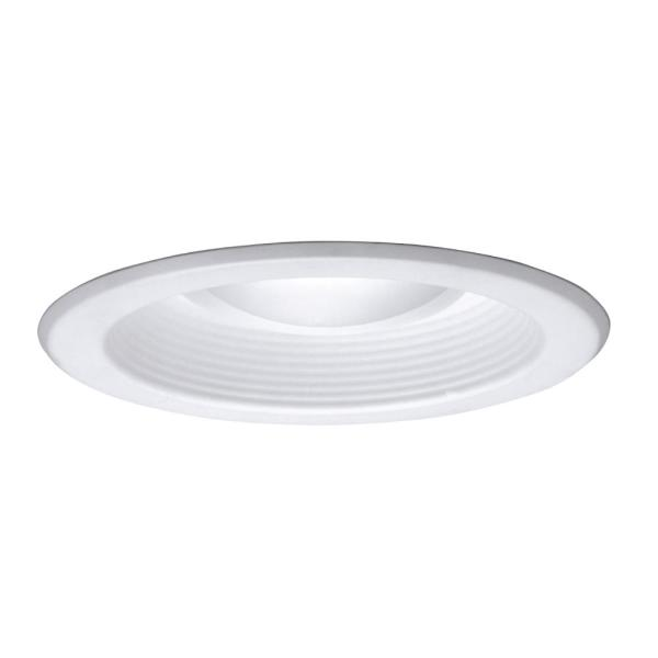 5 in. White Recessed Ceiling Light with Baffle Trim
