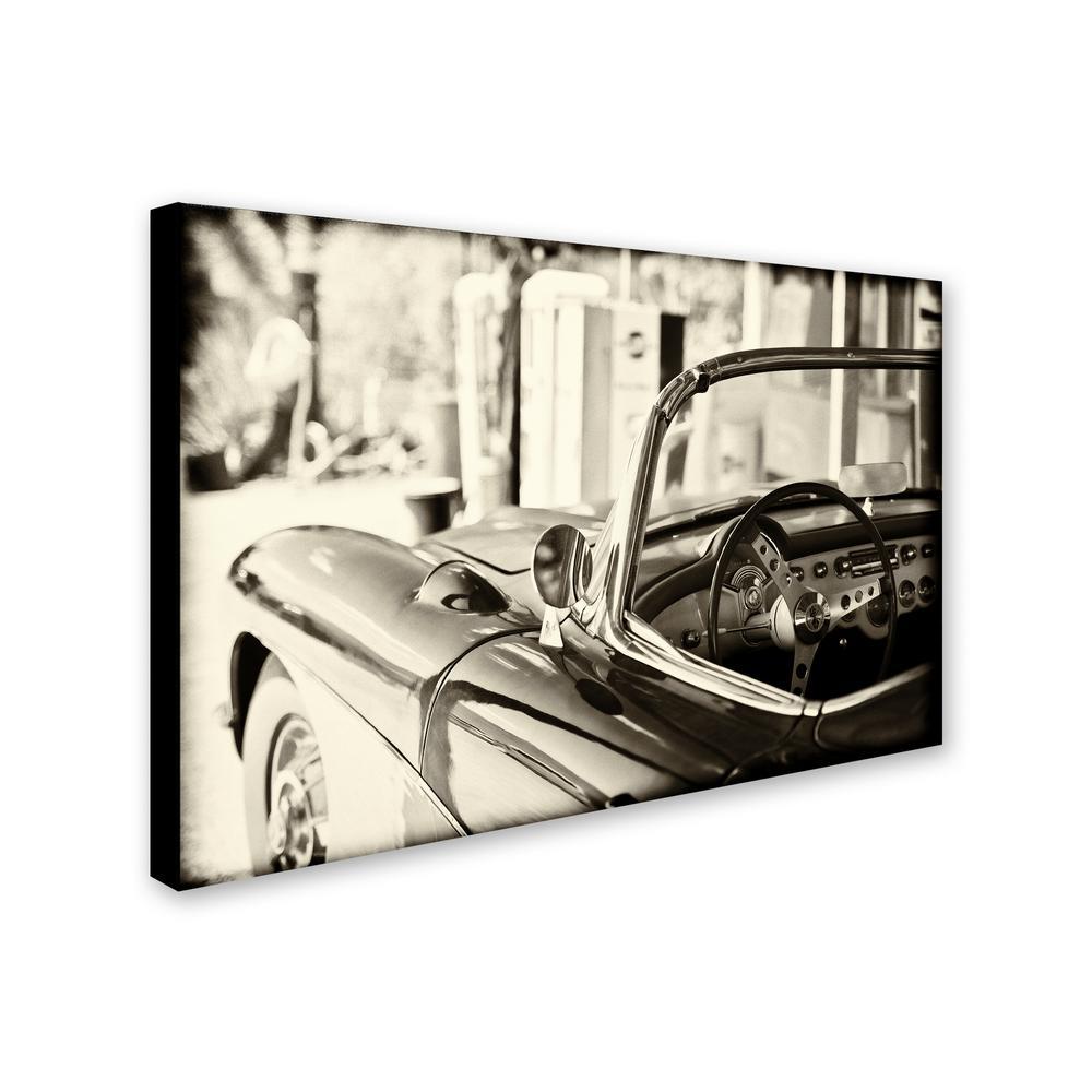 Classic Chevy Corvette Vintage Car Poster Canvas Print Art Home Decor Wall Art