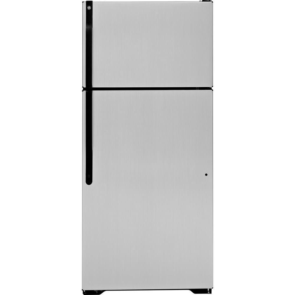 GE 16.5 cu. ft. Top Freezer Refrigerator in CleanSteel