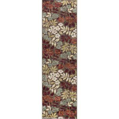 Deco Brown 2 ft. 3 in. x 10 ft. Transitional Runner Rug