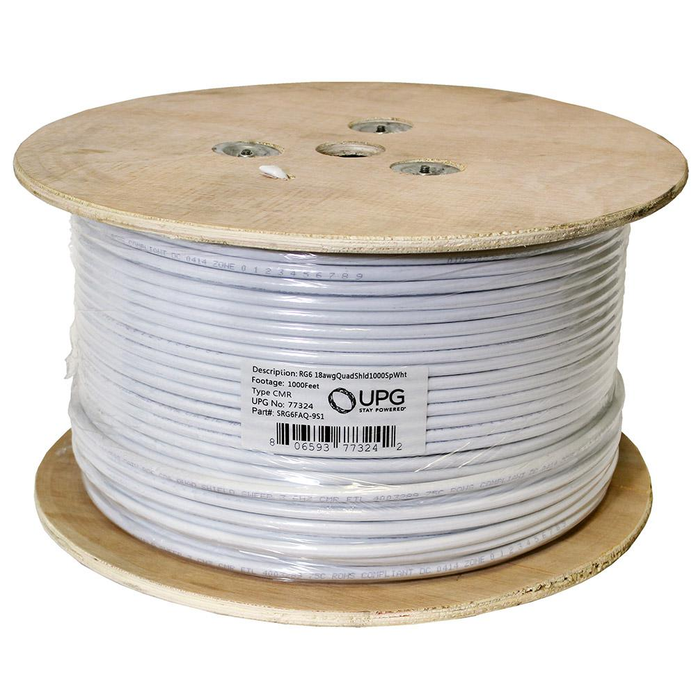 UPG SRG6FAQ-9S01 1000 ft. 18 AWG Shielded CATV Wire-77324 - The Home ...