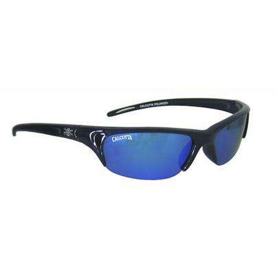 Black Frame Bermuda Sunglasses with Blue Mirror Lenses