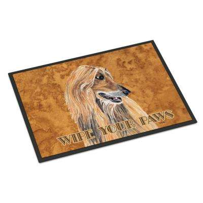 18 in. x 27 in. Indoor/Outdoor Afghan Hound Door Mat