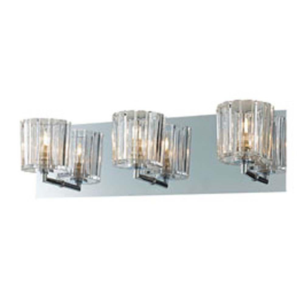 Filament Design Spectra 3-Light Chrome Bath Vanity Light