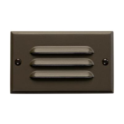 Step And Hall Hardwired 120-Volt Architectural Bronze Horizontal Integrated LED Stair Light