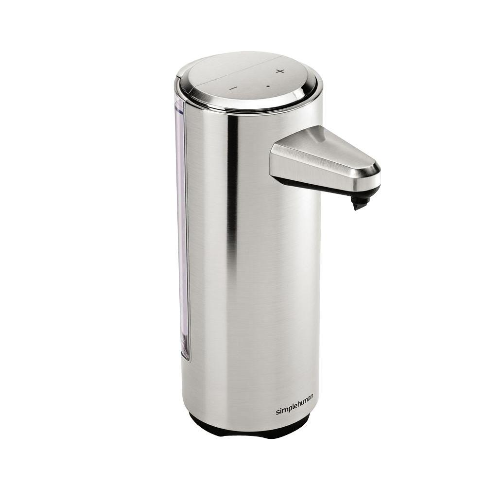 Simplehuman 8 Fl Oz Rechargeable Sensor Soap Pump In Brushed Nickel