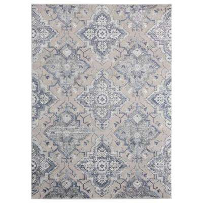 Cascades Leavenworth Blue 9 ft. 10 in. x 13 ft. 2 in. Area Rug
