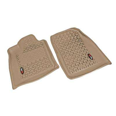 Floor Liner Front Pair Tan 2013-2014 Jeep Gr and Cherokee WK