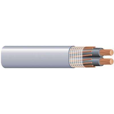 500 ft. 2/0-2/0-2/0 Gray Stranded CU SEU Cable