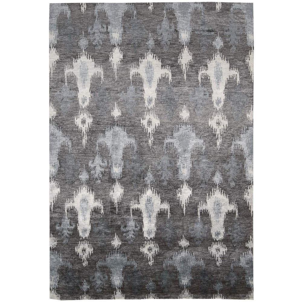 Silken Shadows Grey 7 ft. 9 in. x 9 ft. 9