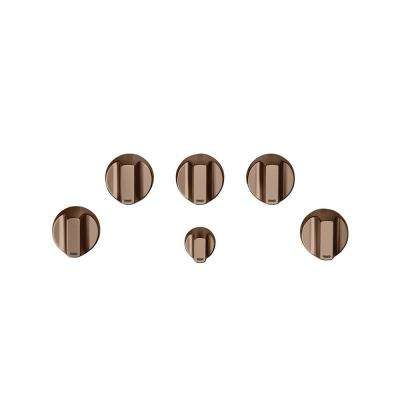 Gas Cooktop Knob Kit in Brushed Copper