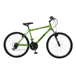 Kawasaki K26 Hardtail Mountain Bike, 26 inch Wheels, 18 inch Frame, Men's Bike in Green by Kawasaki