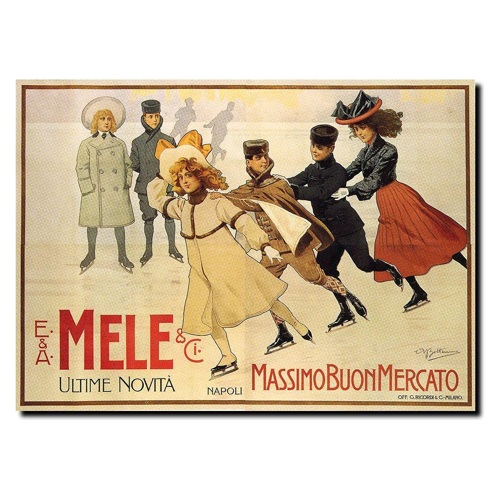 Trademark Fine Art 24 in. x 32 in. Mele Canvas Art