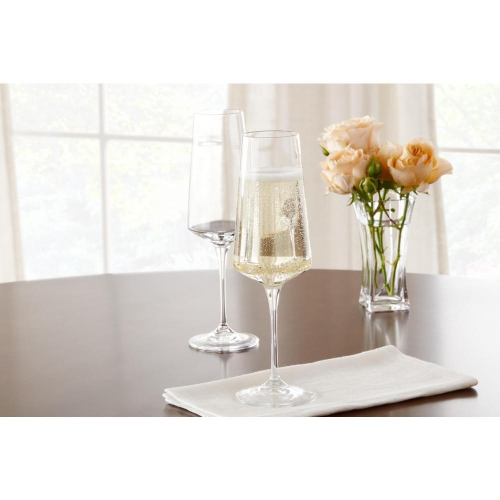 Genoa 12 fl. oz. Lead-Free Crystal Champagne Flutes (Set of 4)