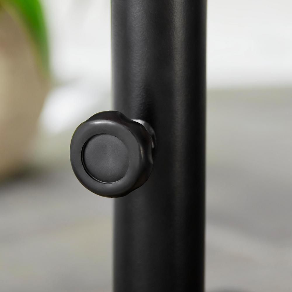 Steel Outdoor Patio Umbrella Base in Black