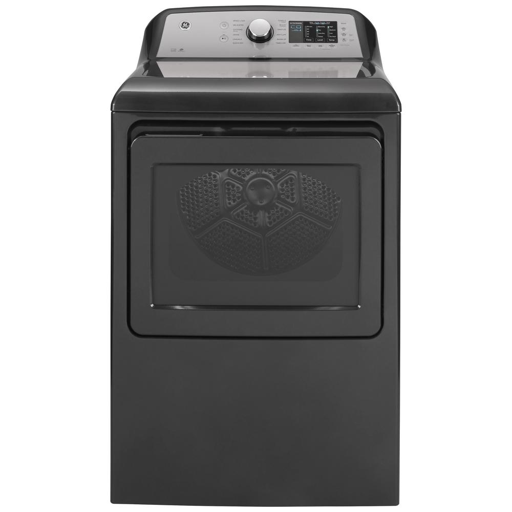 GE 7.4 cu. ft. 240-Volt Diamond Gray Electric Vented Dryer with Sanitize Cycle, ENERGY STAR was $949.0 now $598.0 (37.0% off)