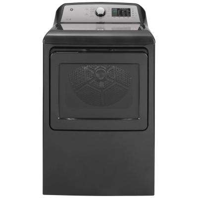 7.4 cu. ft. 240-Volt Diamond Gray Electric Vented Dryer with Sanitize Cycle, ENERGY STAR