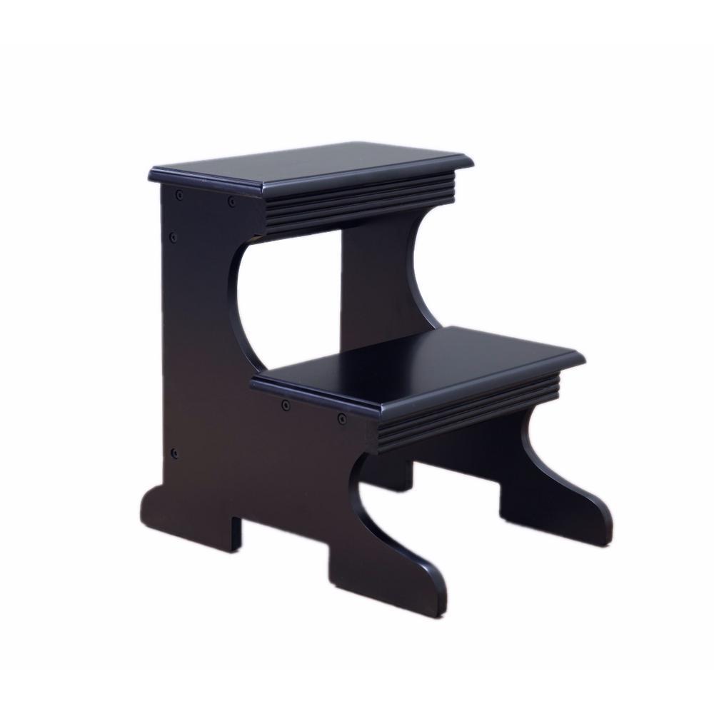 Brilliant Home Craft Black Step Stool Pabps2019 Chair Design Images Pabps2019Com