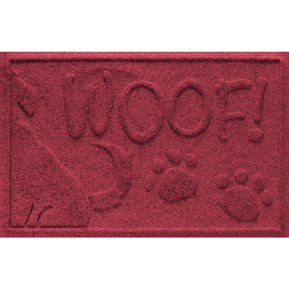 Red Black 18 in. x 28 in. Wag the Dog Polypropylene