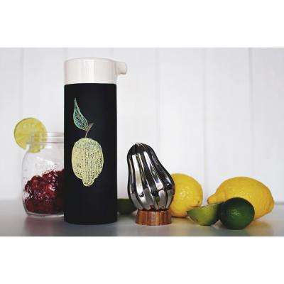 Stainless Steel Bulb Citrus Reamer with Bamboo Stand