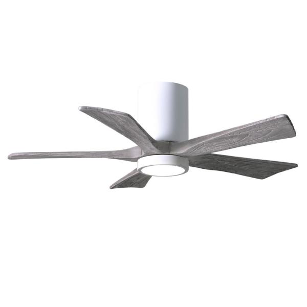 Irene 42 in. LED Indoor/Outdoor Damp Gloss White Ceiling Fan with Remote Control/Wall Control