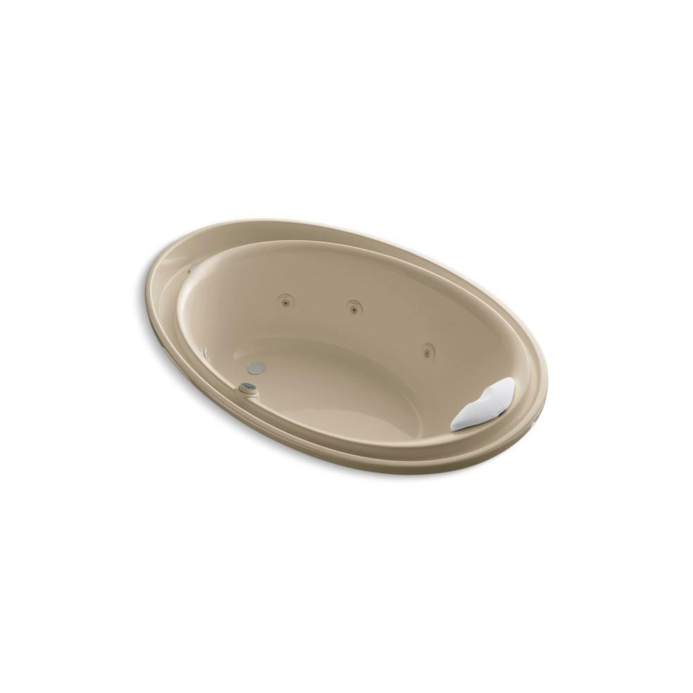 KOHLER Purist 6 ft. Whirlpool Tub in Mexican Sand-DISCONTINUED