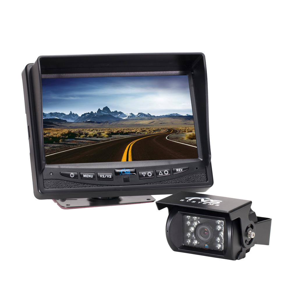 540tvl back up camera system with 7 in flush mount monitor  back up tft color monitor wiring diagram #9