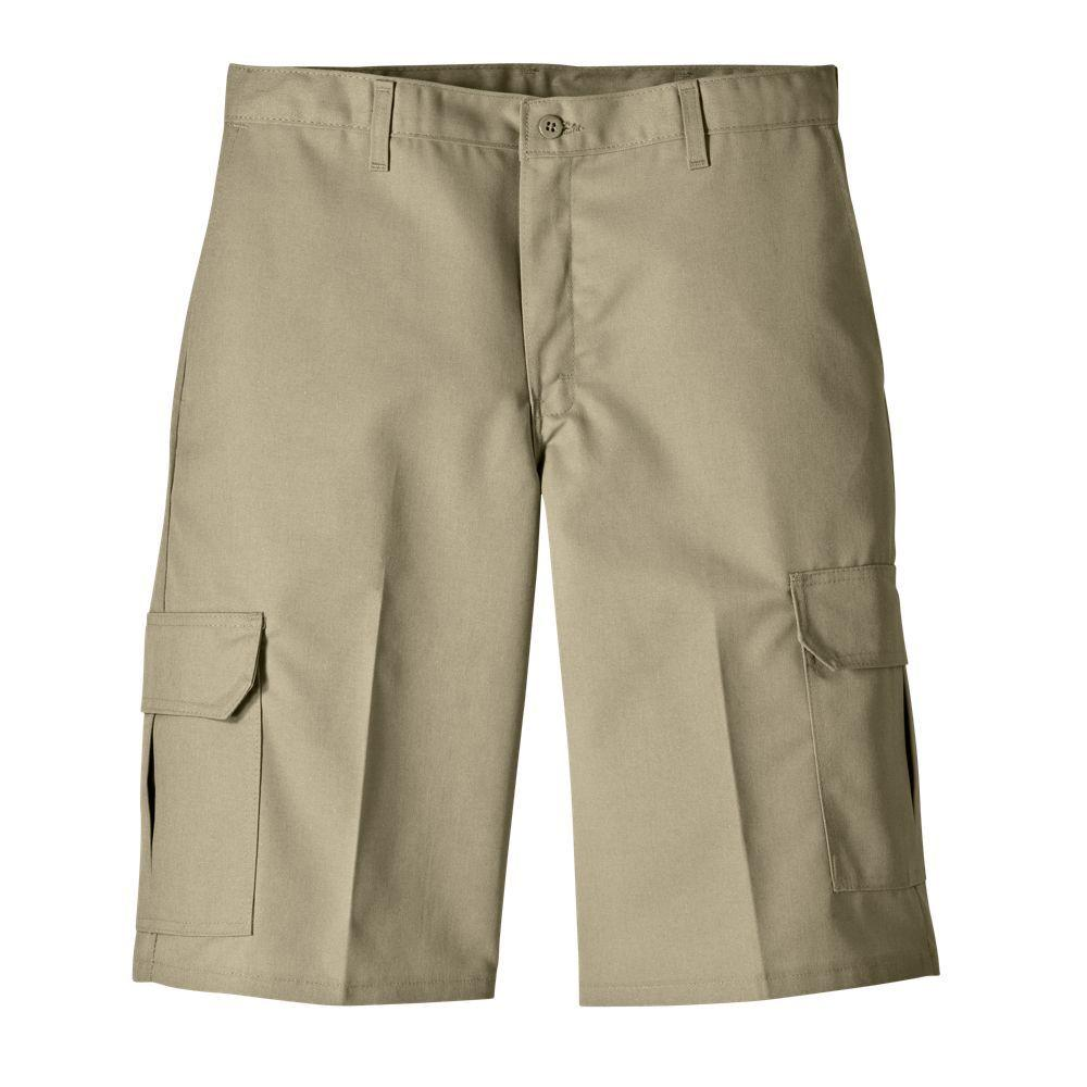 Dickies Relaxed Fit 30 in. x 13 in. Polyester Cargo Short Desert Sand