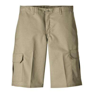 Relaxed Fit 30 in. x 13 in. Polyester Cargo Short Desert Sand