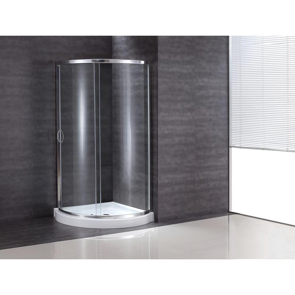 OVE Decors Breeze 38 in. x 38 in. x 76 in. Shower Kit with ...