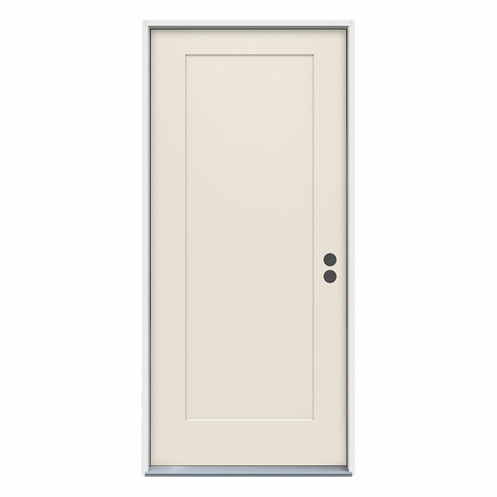 32 in. x 80 in. 1-Panel Craftsman Primed Steel Prehung Left-Hand Inswing Front Door