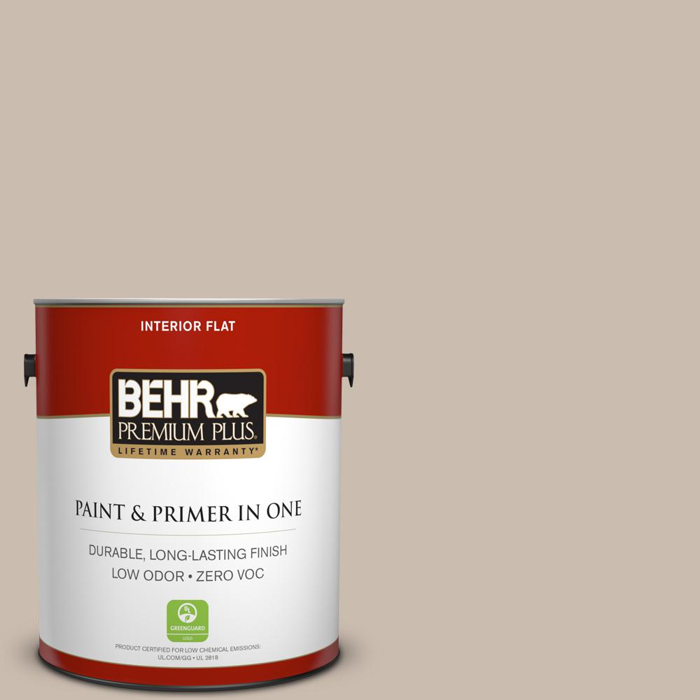 1 gal. #PPU5-13 Creamy Mushroom Zero VOC Flat Interior Paint