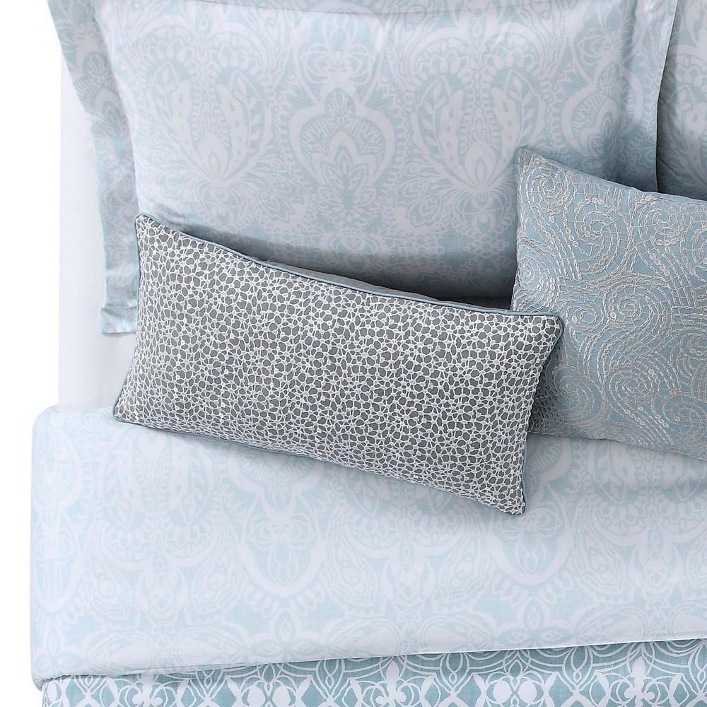 Ombre Lace Blue Pillow 12x22