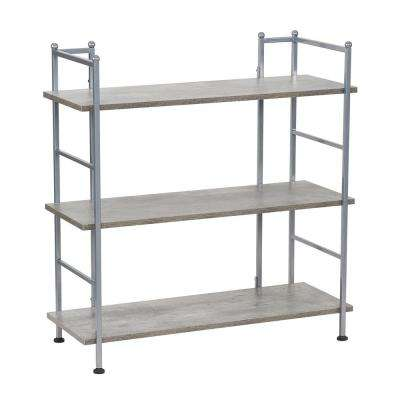30.9 in. H x 29.9 in. W x 12.6 in. D, Wide, Steel with Concrete Shelves, 3 Shelf Rack,