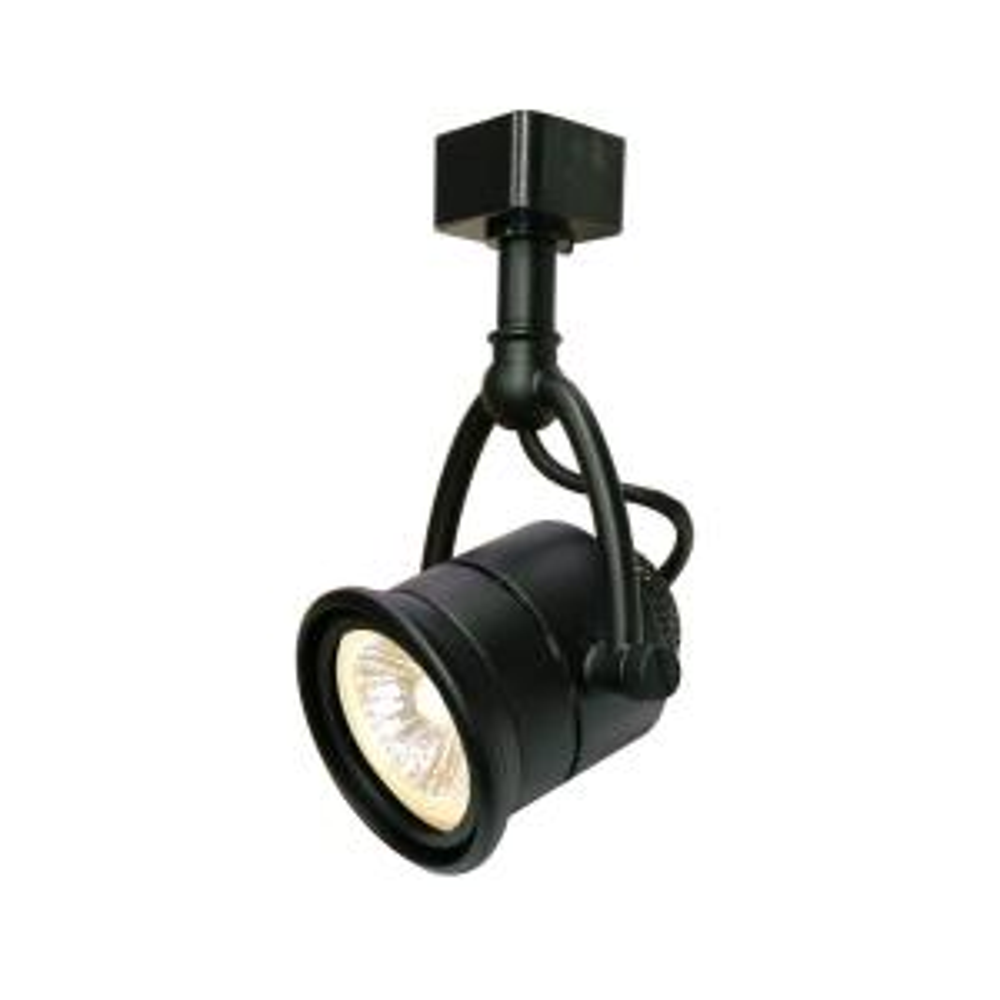 1-Light Retro Black Linear Track Lighting Head