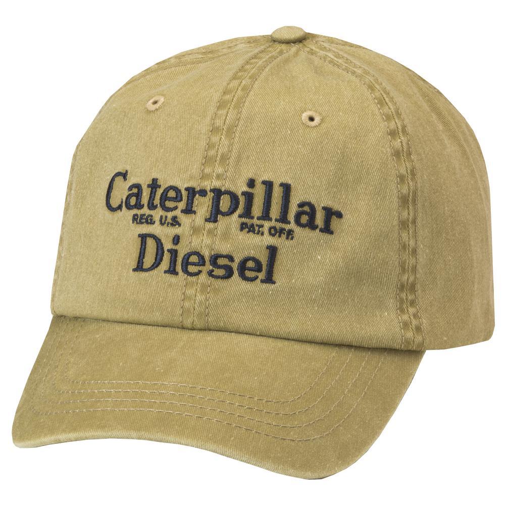 Caterpillar Diesel Men s One Size Tan Cotton Twill Cap Headwear ... e150cb128be